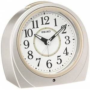 Seiko CLOCK (  clock ) automatic lights alarm clock ( silver ) Round KR888S by  Watches