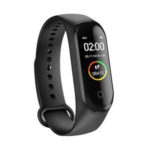 GUOYIHUA Fitness Tracker HR, IP68 Banda de ejercicios inteligente a prueba de agua con contador de pasos con ritmo cardíaco y monitor de sueño Contador de calorías Contador de pasos Podómetro para caminar