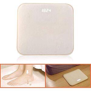 Zhuohong Reloj de alarma de alfombra inteligente Relojes de alfombra, reloj despertador sensible a la presión para dormir pesado con pantalla LED para el hogar moderno, niños, adolescentes, niñas, chicos