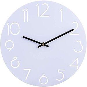 Household products 30cm Metal Relojes de Pared del Reloj de Pared silenciosa for no tictac for la decoración casera, Blanca (Color : Type a)