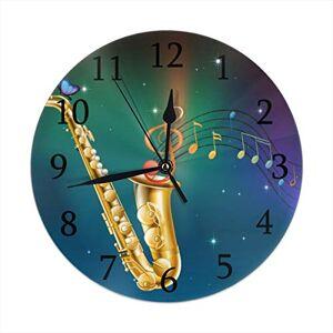 ACHOGI Home Decor Raven and Fox in A Dark Forest Mirando el Reloj de Pared Redondo acrílico silencioso, sin tictac, Reloj artístico, Multi4, Una Talla, 1