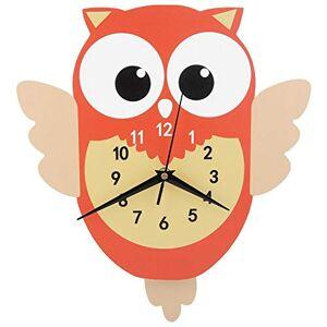 Alinory Reloj de Pared, Reloj de Pared de péndulo con Forma de Animal de Dibujos Animados Lindo Moderno Decoración de Bricolaje para habitación de niños Decoración de Pared de Dormitorio