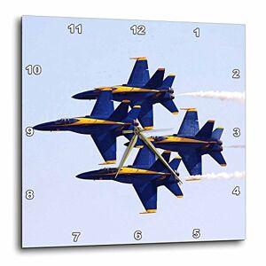 3dRose DPP 60480_ 2Azul Angels en Air Show Reloj de Pared, 13por 13