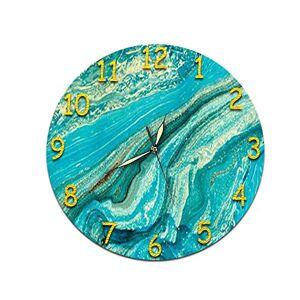 YWJPJ. Reloj, Pared De Material Acrílico Reloj, Etiqueta De La Pared del Reloj Movimiento Silencioso,E