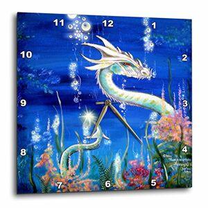 3dRose LLC Dragon Lore White Water Dragon 10por 10-Inch Reloj de Pared