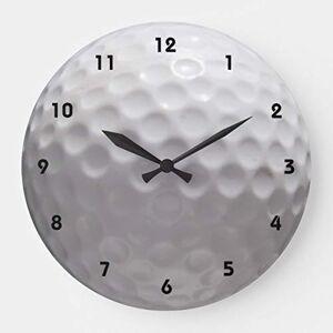 OSWALDO Reloj de Pared de Madera Redondo con número de Pelota de Golf, 30 cm