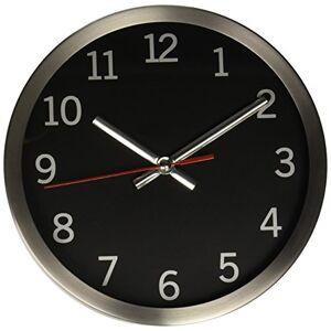 TIMEKEEPER Reloj de Pared Redondo con Borde de Metal Cepillado, 23 cm