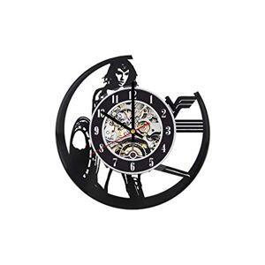 Gifts by N Reloj de pared de Wonder Woman con diseño de mujer maravillosa, reloj de pared de Wonder Woman