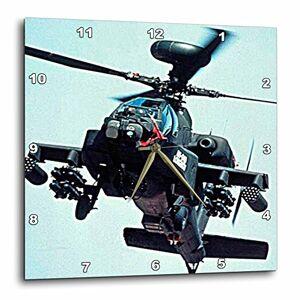 3dRose DPP_730 helicópteros Apache Longbow Relojes de Pared