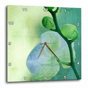 3dRose DPP_38026_1 Sea Orchid Art Flowers Zen Nature Wall Clock, 10 by 10-Inch