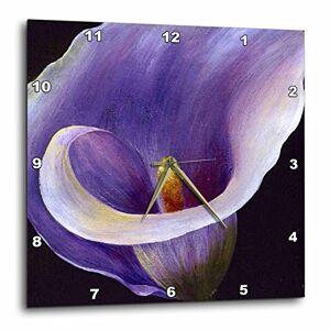 3dRose DPP_16923_3 Reloj de Pared, 15 x 15 Pulgadas, Color Morado