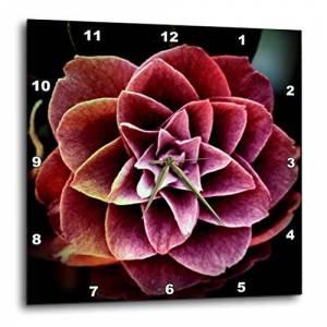 3dRose LLC 3dRose DPP_49841_1 Red Camelia Flower-Spring Floral-Wall Clock, 10 by 10-Inch