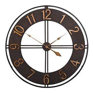 Studio Designs Home 73006 Industrial Loft Metal Wall Clock, Dark Bronze, 30