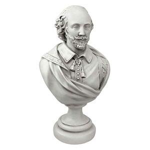 Design Toscano William Shakespeare Desktop escultural Busto en Piedra Antiguo