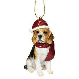 Design Toscano Adornos navideños para Perro, diseño de Navidad, Beagle, Color Completo, 7,62cm, 1