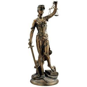 Design Toscano KY1107 Escultura de Diosa de la Justicia, Bronce, Large, 1