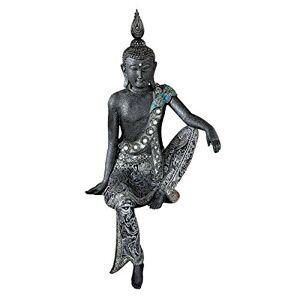 Design Toscano Bodhisattva Estatua asiática de Nirvana, Color Bronce