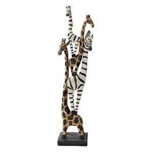 Design Toscano Estatua de Cebra y Jirafa