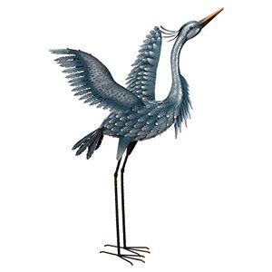 "ART 11778 Estatua metálica para pájaros (47""), Color Azul"