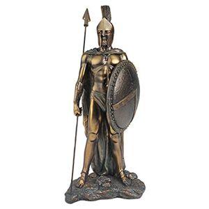 Design Toscano Estatua legendaria de Guerrero Espartano: Juego de Dos, Sencillo, Verdigris, 1