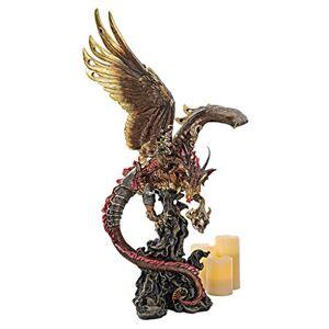 Design Toscano Lash, Flagelo de la Oscuridad Dragón Gótico Halloween a Gran Escala Estatua