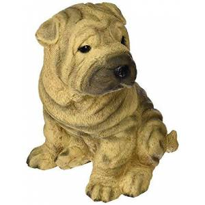 Design Toscano Shar-Pei Estatua de Cachorro de Perro, Multicolor