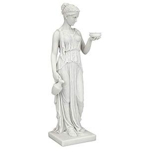 Design Toscano WU75343 Hebe Greek Goddess of Youth Figura Decorativa (poliresina, 27,4 cm), diseño de Diosa Griega de la Juventud, Color Blanco