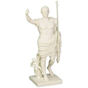 Design Toscano Caesar Augustus of Prima Porta Bonded Marble Statue