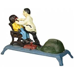 Design Toscano The Dentist Chair: Pulling Teeth Collectors' Die-Cast Iron Mechanical Coin Bank