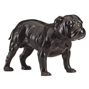 Design Toscano PD118231 Lord Byrons Bulldog Estatua de Perro (20,2 cm, polirresina, Acabado Bronce