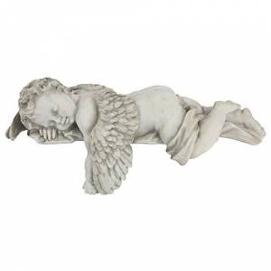 Design Toscano Sleepy Time Baby Angel Statue in Stone
