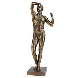 Design Toscano 1877 Estatua de la era de Bronce