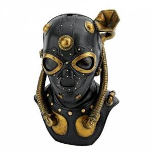 Design Toscano Steampunk Apocalypse Estatua de máscara de gas, multicolor