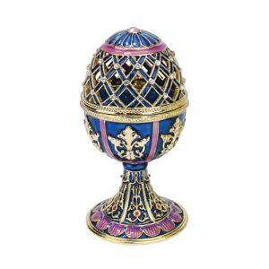 Design Toscano Jeweled Trellis Collection Romanov Style Enameled Egg: Bleue, Blue
