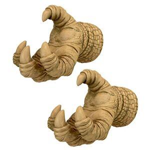 Design Toscano NG32489 Talons of the Dunheviel Dragon Decor esculturas de pared, 7 pulgadas, juego de dos, piedra gótica, 2 unidades
