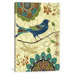 """iCanvasART 1Pieza Eastern Tales Birds I Impresión de Lona por Daphne Brissonnet, 26"""" x 18""""/0.75"""" Depth, 1, 1"""