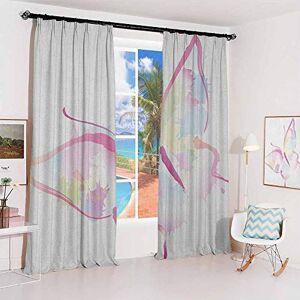 GUUVOR Cortina de mariposa con aislamiento para recámara, sala de estar, con alas de mariposa, renovación femenina, renacimiento, psique, ligereza de ser, 2 paneles, color azul y morado, color25, W36 x L72 Inch x2,Free hook and loop, 1