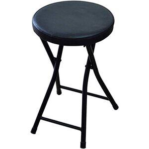 BH Sillas, taburetes, sillas Plegables Silla Alta Plegable Acolchada Desayuno Redondo Cocina Bar Taburete Muebles Silla Alta compacta (Color: Negro Mide 50 cm de Alto)