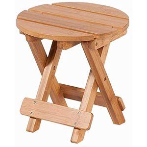 WZF Sillas Plegables, Taburete de bambú Taburete Taburete bajo Taburete pequeño Amarillo Claro Sofá fácil de Limpiar Taburete 25x25cm