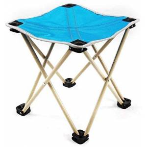 WYJW Taburete de Camping Plegable portátil Silla de Taburete de Marco liviano Muebles de Camping al Aire Libre (Color: Azul Claro, tamaño: 27 * 28 cm)