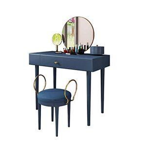 LYATW Inicio Multifuncional Dresser, 360 Grados tirón Espejo y Relleno de heces aparador con cajones de fácil Montaje Compacto Dresser Dresser Muebles