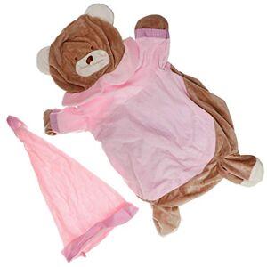 Homyl Caso de Sofá Bolsa de frijoles para Niños Cubierta de Sillón Bebé Funda de Silla Adorable Diseño de Animal # 2 rosa claro