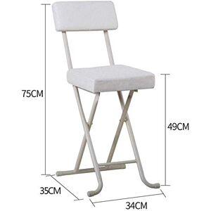 BH Sillas, taburetes, sillas Plegables Silla Plegable portátil para desayunador Taburete Silla Suave (Color: Blanco, tamaño: 34 * 35 * 79 cm)