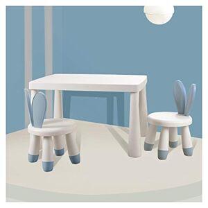 CHAXIA-infantil mesa de juegos CHAXIA Silla De Mesa Infantil Aprendizaje Pintura Mesa De Juego, Conejito Encantador Silla 1 Mesa 2 Sillas, 3 Colores Disponibles (Color : C)