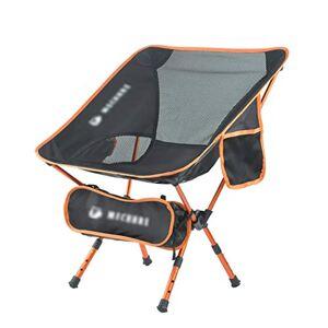 QLXWY Silla Plegable Silla Plegable al Aire Libre Portable de la Pesca Silla de heces telescópica Luna Silla Camping (Color : Orange, Size : 37.5x36x69 cm)