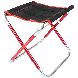 WYJW Silla Plegable al Aire Libre Silla Plegable portátil de Aluminio Plegable Taburete de Pesca Barbacoa Silla Tren Banco Mazar, 25x31x30cm (Color: Rojo)