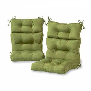 Greendale Home Fashions Indoor/Outdoor High Back Chair Cushions, Summerside Green, Set of 2