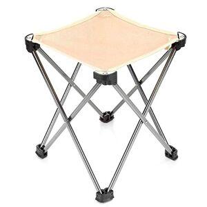 CMmin Mini Campo de heces, de Peso Ligero Que acampa el Taburete, Silla Portable de Pesca de Aluminio, sillas Plegables al Aire Libre, Resistente al Desgaste y a la compresión, for Viajes, Camping