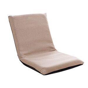 Bseack Sillas Plegables Plegable Silla Suelo Desmontable y Lavable sofá Perezoso Multi-direccional for sillas de meditación de Ajuste for el Dormitorio de la Sala (Color : Khaki)