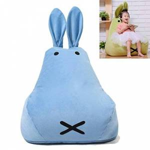 Univegrow Childrens Felpa Silla Conejo Animal de Peluche Kids Almacenamiento Bean Bag, Azul